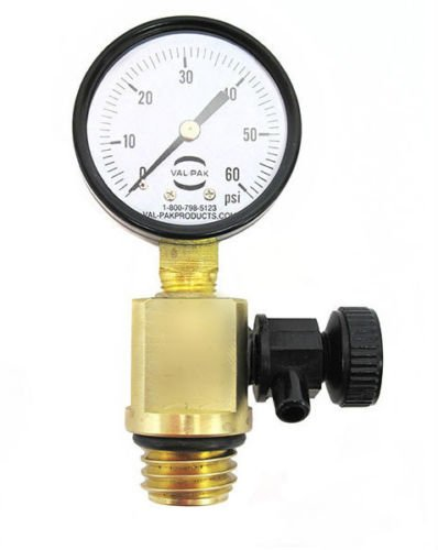 Heavy Duty Pool Filter Air Relief Valve Pressure Gauge Clean Clear, FNS 98209800