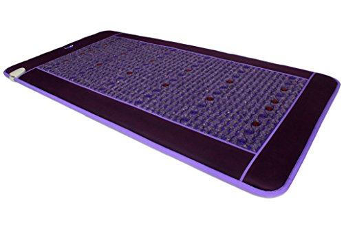 Far Infrared Amethyst Mat - FIR Heat - Bio Magnetic Field - PEMF - Negative Ions - Red Light Photon Therapy - Natural Amethyst - FDA Registered Korean Manufacturer - Purple (Single (XL) 75''L x 39''W) by Bio Amethyst (Image #4)