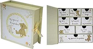 baby keepsake box with drawers toysandgames. Black Bedroom Furniture Sets. Home Design Ideas