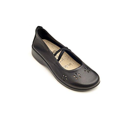 Arcopedico 6811 Fleur Chaussures Plates Chaussures Noires