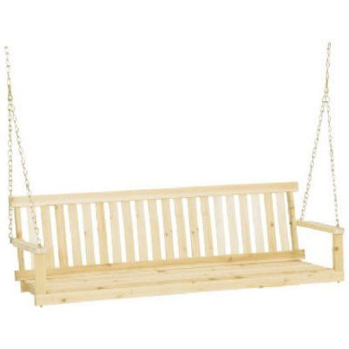 Jack Post Jennings Traditional 5-Foot Swing Seat with Chains in Unfinished Cypress - Unfinished Swing