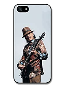AMAF ? Accessories Carlos Santana Photoshoot Posing and Playing Guitar case for iPhone 5 5S