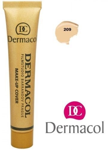 Even Coverage - Dermacol Make-up Cover #209 (foundation for perfect wedding/party makeup)