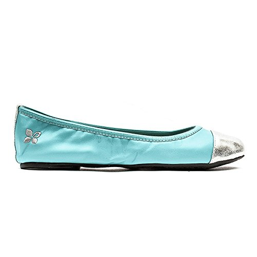 Butterfly Bailarinas Aqua para Silver Verde mujer Twists 1Rq1v