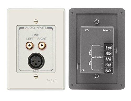 Radio Design Labs RCX-J3N XLR Microphone -amp; Dual RCA Input Wall Pla by Radio Design Labs