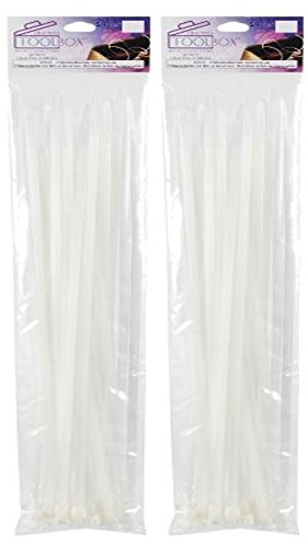 Darice Locking Cable Ties, 12-Inch, Clear (2 pack)
