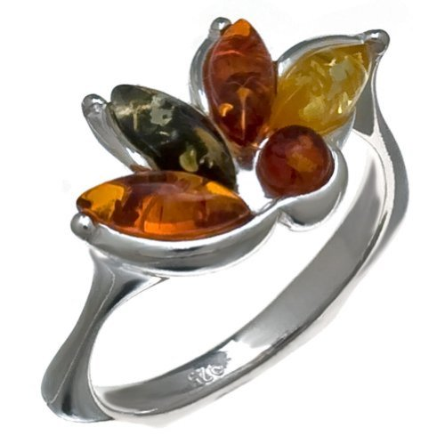 - Multicolor and Sterling Silver Very Small Tiny Fantasy Ring