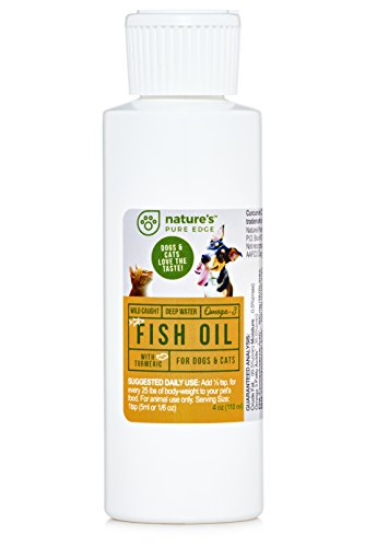 FISH OIL FOR DOGS & CATS with Omega 3 Complex & TURMERIC - Helps: Inflamed Skin and Joints, Shedding, Dry & Itchy Skin