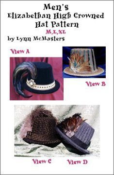 Men's Elizabethan High Crowned Hat Pattern (Sewing Pattern) - Colonial Woman Costumes Pattern