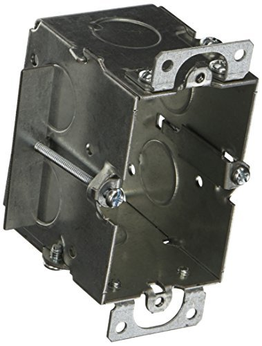 Hubbell-Raco 509 Gangable 2-1/2-Inch Deep Switch Electrical Box, (2) 1/2-Inch End Knockouts, Old-Work Side Clips, 3-Inch x 2-Inch by HubbellRaco