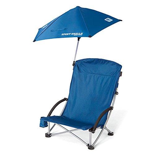 SKLZ Sport-Brella Low Profile Beach Chair with Umbrella