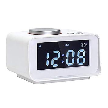 L&Z Reloj Despertador Digital Radio FM Reloj Despertador Fuerte para Traviesas Pesadas con Doble Alarma,