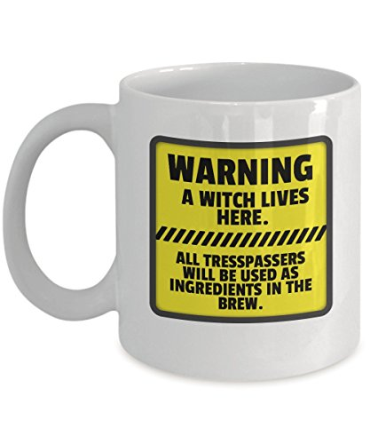 Funny Halloween - WARNING A witch lives here. All tresspassers will be used as ingredients in the brew. - Get This - It Would Be Their New Favorite -