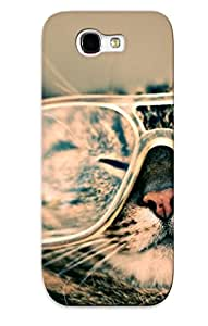 High Quality HwmAcTX3185CsEiI Cat With Glasses Tpu Case For Galaxy Note 2