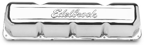 Edelbrock 4431 Signature Series Chrome Valve Covers - Set of 2 American Motors Valve Cover