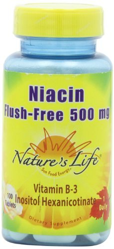 Nature's Life Niacin Flush-Free 500 Mg, 100 Tablets (Pack of 3) by Nature's Life