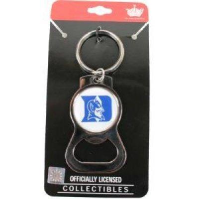 aminco Duke Blue Devils Bottle Opener Keychain with Domed Acrylic - Bottle Key Opener Devils Ring