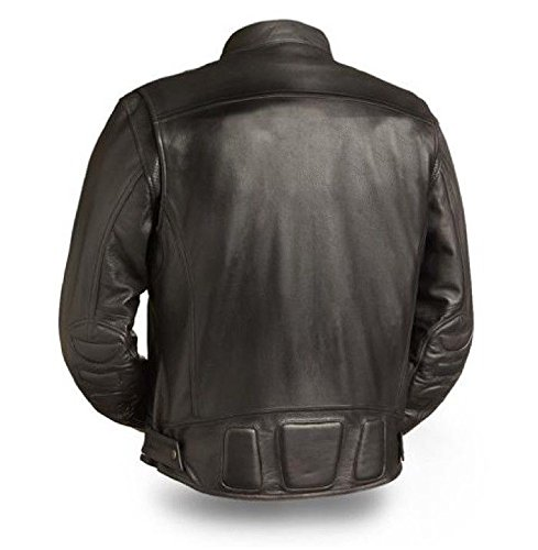First Manufacturing Mens Motorcycle Riding Classic Premium Quality Leather Jacket Cheap price New (M Regular)