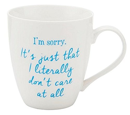 (Pfaltzgraff Everyday Im Sorry I Literally Dont Care 18 Oz Novelty Coffee Mug)
