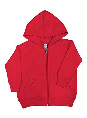 Wholesale Zip Up Hoodies (Rabbit Skins Fleece Infant Baby Zip Fleece Hoodie [Size 18 Months] Red Long Sleeve Sweatshirt)