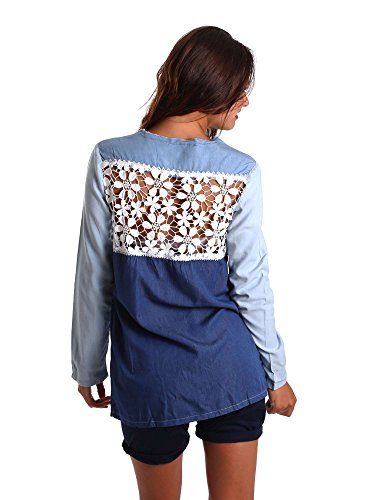 Desigual - Camisa deportiva - para mujer Azul