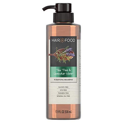 Hair Food Shampoo, Sulfate Free, Dye Free Purifying Treatment, Tea Tree & Lavender, 17.9 FL OZ