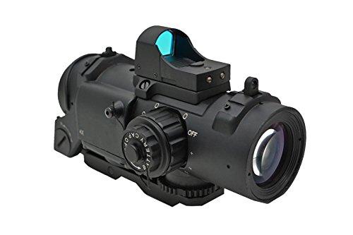 Specter DRタイプ 4X 4倍固定 スコープ タクティカルスコープ ダットサイト付 黒 CL1-0160 BK B00N3KXRCW