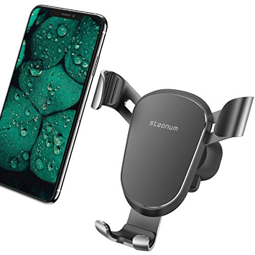 Car Phone Mount, Steanum Gravity Phone Mount Air Vent Cell Phone Holder Car Cradles with 360° Rotation Compatible iPhone Xs MAX X XR 8 7 6 Plus Galaxy S9 S8 Plus S7 S6 Edge Note 8 9 LG Google etc