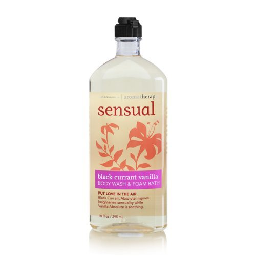 Bath and Body Works Aromatherapy Sensual Black Currant Vanilla Body Wash, 10 oz