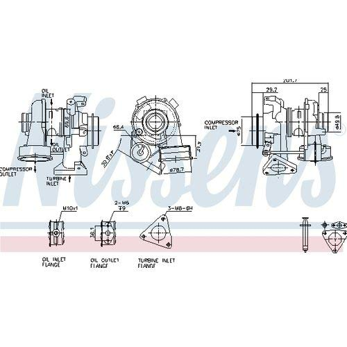 Nissens 93081 Turbo Charger: