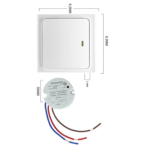 Crelander Self-Powered Wireless Light Switch No Battery and No Wiring Required Smart Wall Switch ...