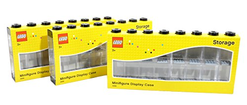 LEGO Minifigure Display Case (Large 3-Pack Black) by LEGO