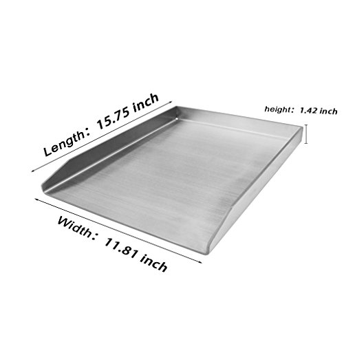 Stanbroil Universal Outdoor Stainless Steel Griddle Pan, Square, 15.75 x 11.8 inches by Stanbroil