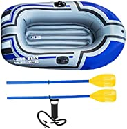 Inflatable Boat, PVC Inflatable Marine Boat Air Mattress Heavy Duty 1 Person Inflatable Raft Dinghy Fishing Bo