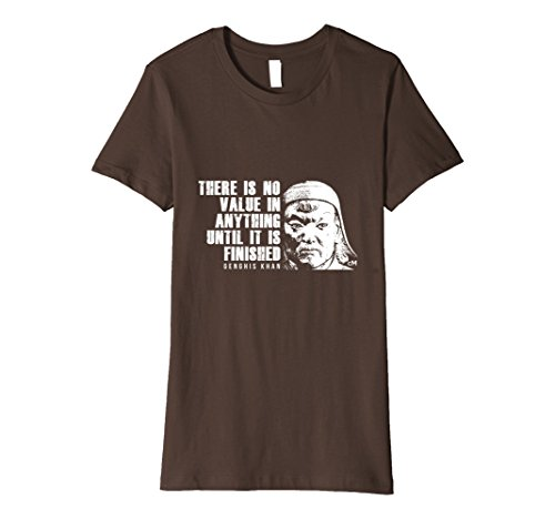 Women's Calvin Mira T shirt Genghis Khan t shirt There is no value  Medium Brown (Genghis Khan Costume)