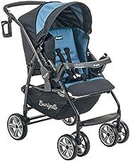 Carrinho de Bebê AT6 K, Burigotto, Preto e Azul, Até 15 kg