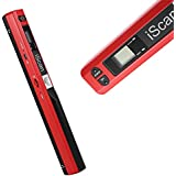 Pettstore Portable iScan Office Handheld Scanner Photo Documents Scanner Book A4 Scan For 900DPI 32GB (Scanner, Red)