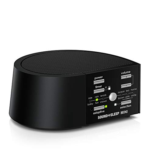 Sound+Sleep MINI High Fidelity Sleep Sound Machine with AC and Battery Power, Real Non-Looping Nature Sounds, Fan Sounds and White ()