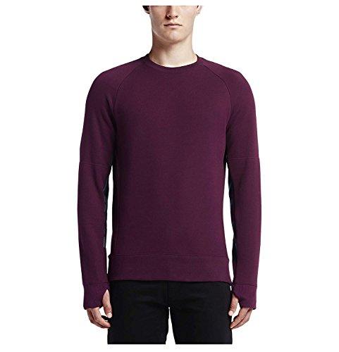 Nike Men's SB Everette Graphic Fleece Crew Skateboarding Sweatshirt-Mulberry-XL