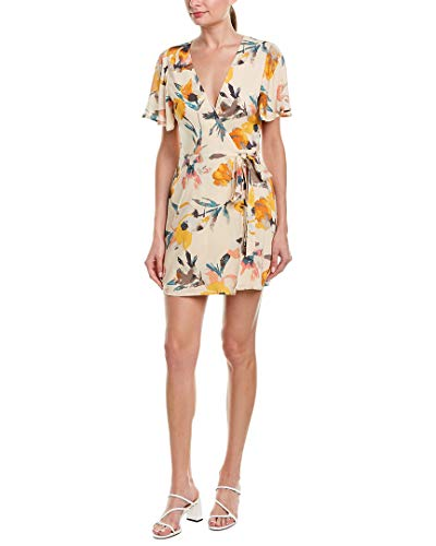 BCBGeneration Women's Abstract Florals Wrap Dress, Multi, S from BCBGeneration