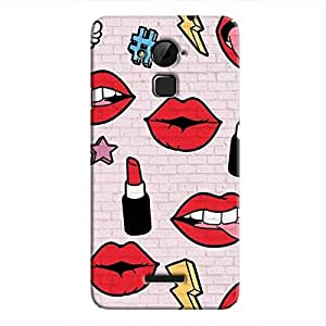 Cover it up Lipstick Stickers Wall Hard Case for Coolpad Note 3 - Multi Color
