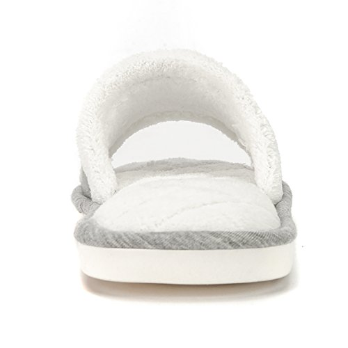 Womens Open Memory House Toe Bedroom Foam Slide Grey Slippers DRSLPAR Fuzzy Slippers Comfort Cd4w0Xttq