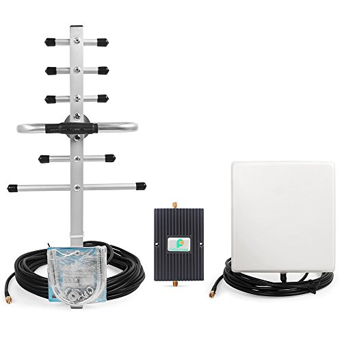 Dual Band 850/1900MHz Cell Phone Booster for All Carriers GSM 3G Home Use - Enhance Voice and 3G Data Signal with PROUTONE Cellular Signal Repeater Kit with High Gain Antennas (Repeater Gsm)