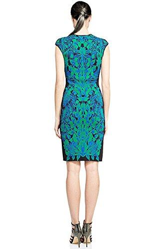 Tadashi Shoji Printed Knit Sleeveless Sheath Cocktail Dress