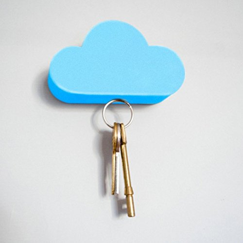 Iuhan Fashion Creative Home Storage Holder White Cloud Shape Magnetic Magnets Key Holder