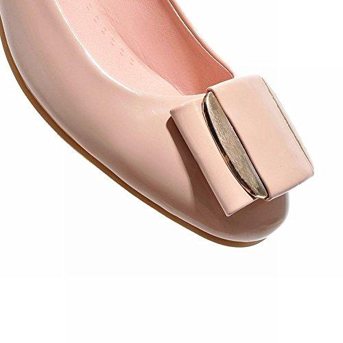 Show Shine Womens Fashion Sweet Casual Loafers Shoes Apricot AQUDfJ