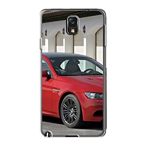New Tpu Hard Case Premium Galaxy Note3 Skin Case Cover(red Bmw M3 Front Angle)