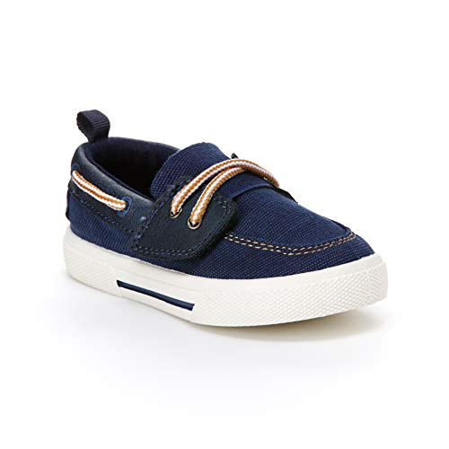 carter's Boys' Cosmo Boat Shoe Sneaker, Blue, 4 M US Toddler ()