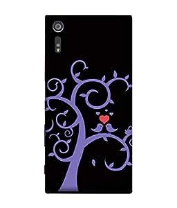 ColorKing Sony Xperia XZ Case Shell Cover - Tree Birds Multi Color