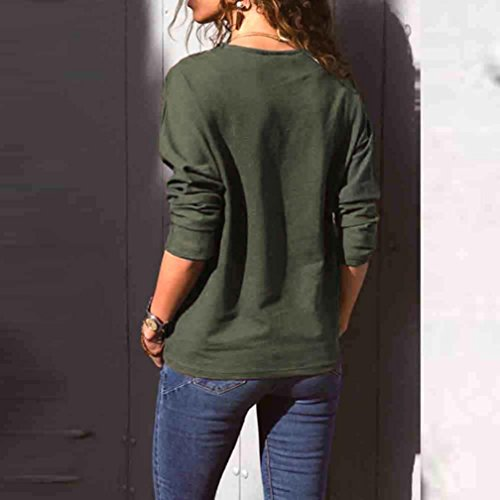 A Chemise O TiaQ Automne Imprimer A Sexy Carreaux Casual Block Vert Color Chemisier Manches Cou Femmes Chic Arme Tops Longues qtXtrv